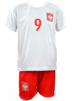 KOMPLET SPORTOWY REPLIKA EURO 2016 POLSKA LEWANDOWSKI 9