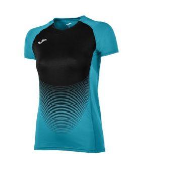 niebieska koszulka damska do biegania Joma