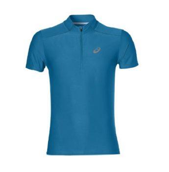 niebieska koszulka do biegania męska Asics