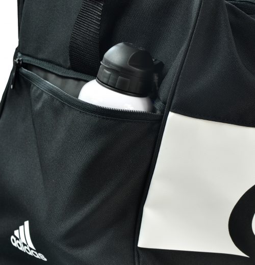 Torba na siłownię adidas Linear S99959 czarna – boczna kieszeń