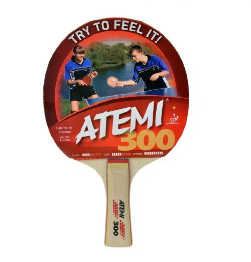 Rakietka do tenisa stołowego dla początkującego gracza. Top 5 do 100 zł Paletka do ping ponga Atemi 300 concave