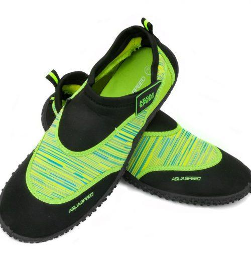 buty do wody zielone, obuwie plażowe aqua speed