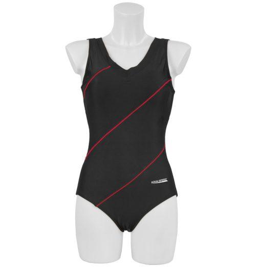 strój kąpielowy czarno czerwony Aqua Speed Sophie