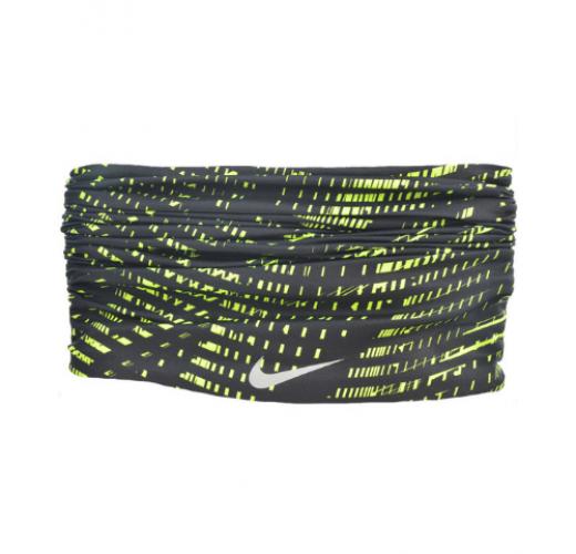 Chusta Bandamka Nike Dri Fit Wrap czarno-limonkowa NRA48054