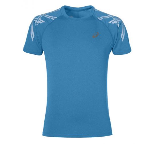 Koszulka Asics Running Stripe SS niebieska 141199-8155