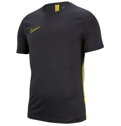 Koszulka męska Nike M Dry Academy SS czarno-żółta AJ9996 060