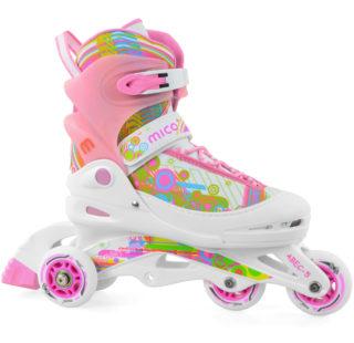 łyżworolki dla dziewczynki różowe, pomysł na prezent wielkanocny dla dziecka