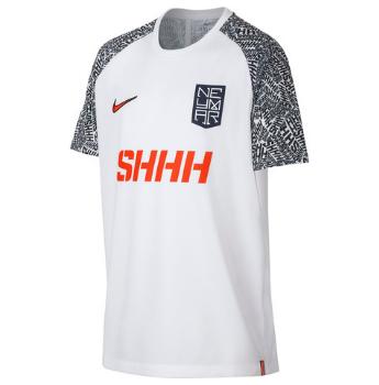 Koszulka dla dzieci Nike Neymar Dri Fit B Hoodie QZ biała AO0743 100