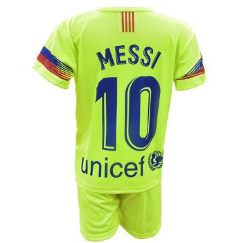Komplet Sportowy Replika Messi FC Barcelona 2018/19 limonka