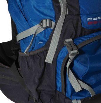 Plecak turystyczny High Peak – kieszeń boczna, komora dolna, paski kompresyjne