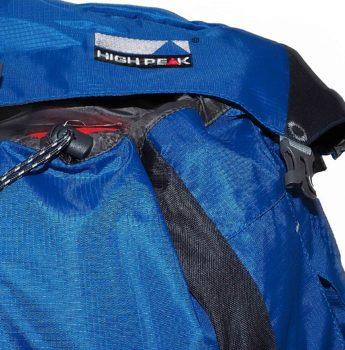 Plecak turystyczny High Peak – komora górna, zamknięcie, klamra
